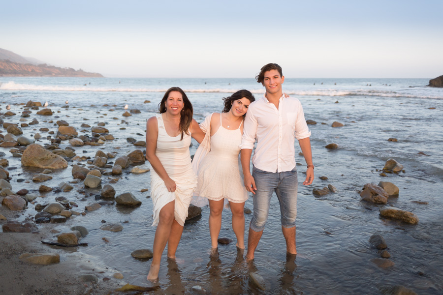 family, beach
