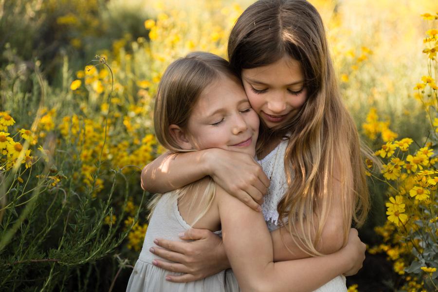 sisters, children, family