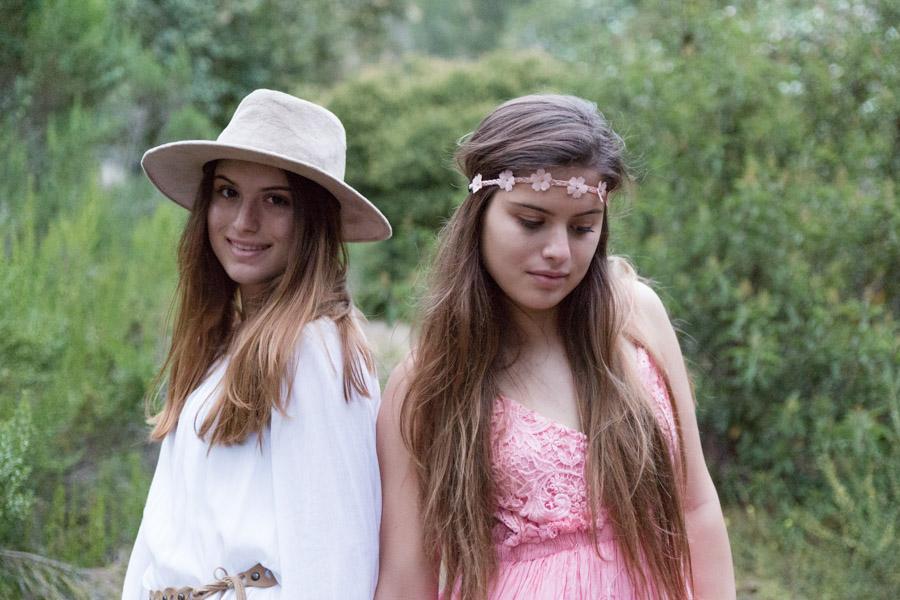 twin sisters, teens, seniors