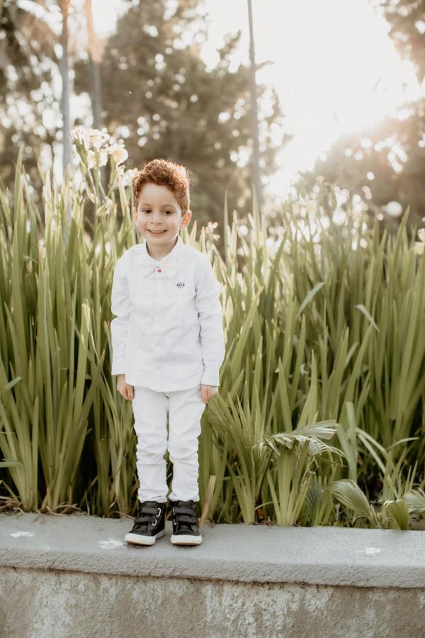 little boy at park