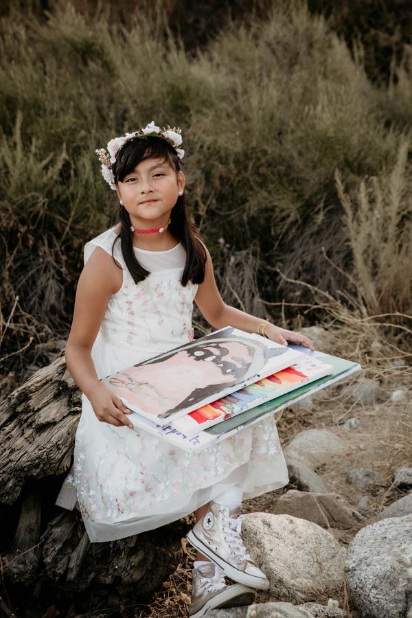 young artist, girl artist, painter