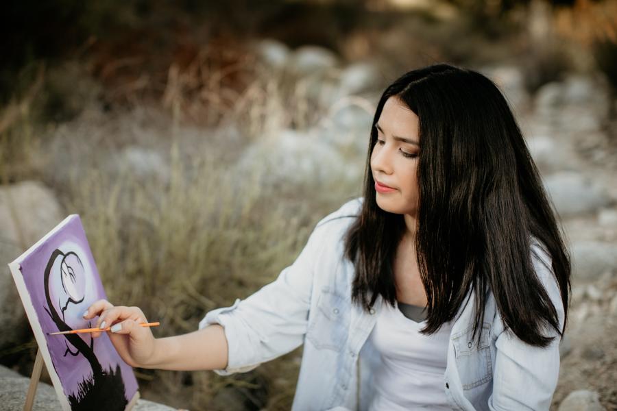 girl painter, artist