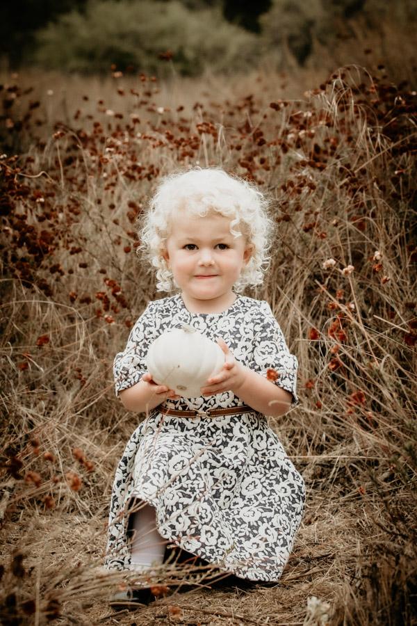 little girl, fall portrait, pumpkin, children, kids