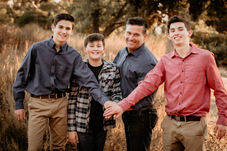family, father, boys
