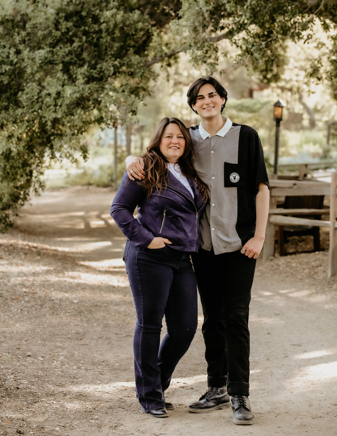 mother and son, senior portraits