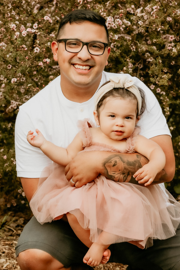 father and daughter, family portraits, babies